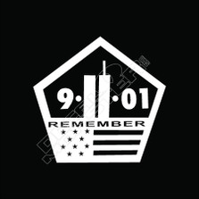 Remember 911 Decal Sticker