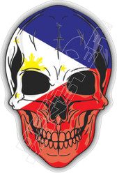 Philippines Skull 51 Decal Sticker