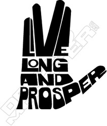 Star Trek Live Long Prosper Hand Decal Sticker