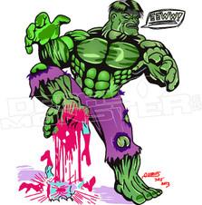 Hulk Spiderman Squish Decal Sticker