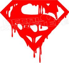 Superman Drip Decal Sticker