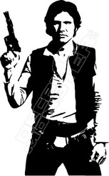 Han Solo Decal Sticker