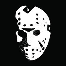 Jason Hockey Mask Horror Decal Sticker