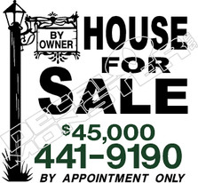 House For Sale Decal Sticker