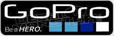 Go Pro Blue Decal Sticker
