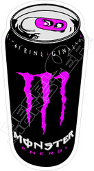 Monster Energy Can Purple Decal Sticker