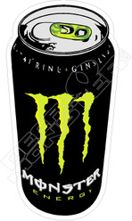 Monster Energy Can Green Decal Sticker