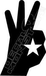 Hand Star Decal Sticker