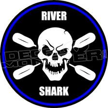 River Shark Decal Sticker