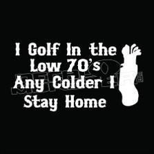 I Golf Low 70s Decal Sticker