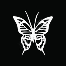 Butterfly Tribal 52 Decal Sticker