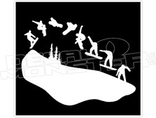 Snowboard Jump Wall Decal Sticker