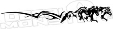 Tribal Horses Running Long Decal Sticker