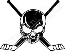 Hockey Goalie Stick Skull Cross