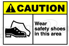 Caution 002H  - Wear safety shoes in this area