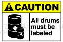 Caution 003H - All drums must be labeled