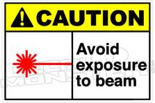 Caution 007H - Avoid exposure to beam