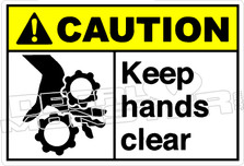 Caution 159H - Keep hands clear
