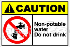 Caution 202H - non-potable water do not drink