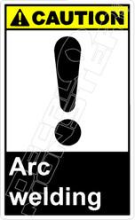 Caution 003V - arc welding