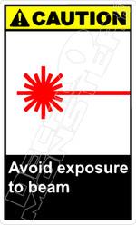 Caution 005V - avoid exposure to beam