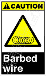 Caution 006V - barbed wire