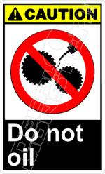 Caution 045V - do not oil
