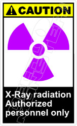 Caution 334V - x-ray radiation authorized personnel only