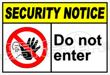 security 003H - do not enter