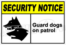security 005H - guard dogs on patrol
