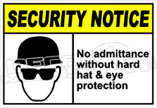 security 008H - no admittance without hard hat