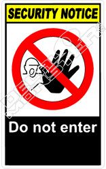 security 003V - do not enter