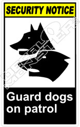 security 005V - guard dogs on patrol