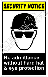 security 008V - no admittance without hard hat