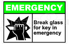 Emergency 005H - break glass for key in emergency