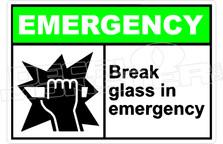 Emergency 006H - break glass in emergency