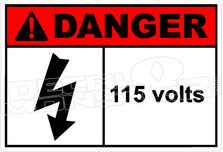Danger 003H - 115 volts