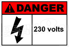 Danger 005H - 230 volts