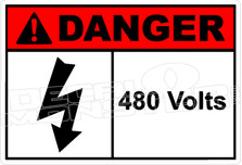 Danger 011H - 480 volts
