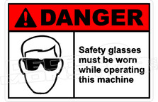 Danger 291H - safety glasses must be worn while operating this machine