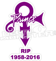 Prince Memorial Decal Sticker RIP 2016