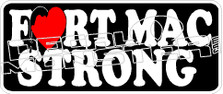 Fort Mac McMurray Strong Heart 2016 Fire Decal Sticker