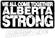 Alberta Strong We All Come Together 2016 Fire Decal Sticker