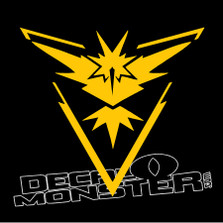 Pokemon Go Team Instinct Decal Sticker DM