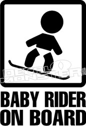 Baby Snow Boarder on Board Decal Sticker