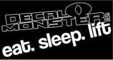 Eat Sleep Lift Weightlifting Decal Sticker