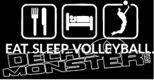 Eat Sleep Volleyball Decal Sticker