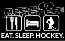 Eat Sleep Hockey Decal Sticker