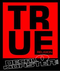 True Religion Decal Sticker