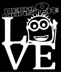 Minion 13 Love Decal Sticker